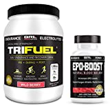EPO-BOOST Natural Blood Builder & Tri Fuel Wild Berry Sports Supplement Bundle. RBC Booster & BCAA Electrolyte Drink. Echinacea & Dandelion Root for Increased VO2 Max, Energy, Endurance.