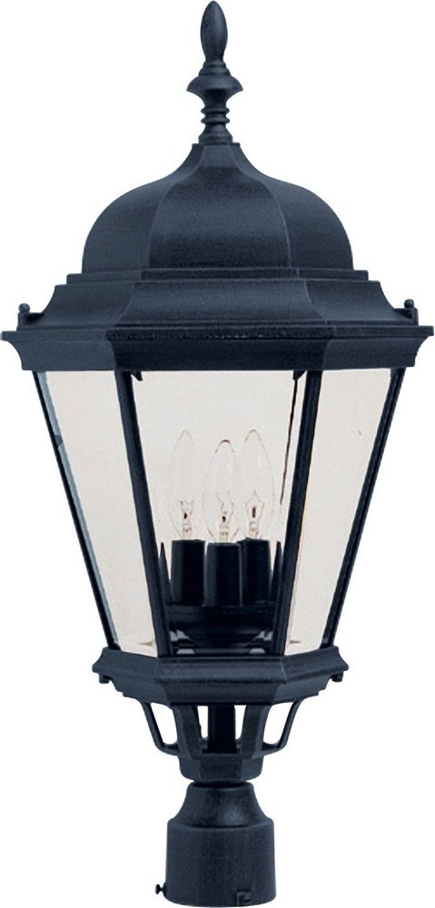 Maxim Lighting 1007BK Westlake 3-Light Post Mount, Black