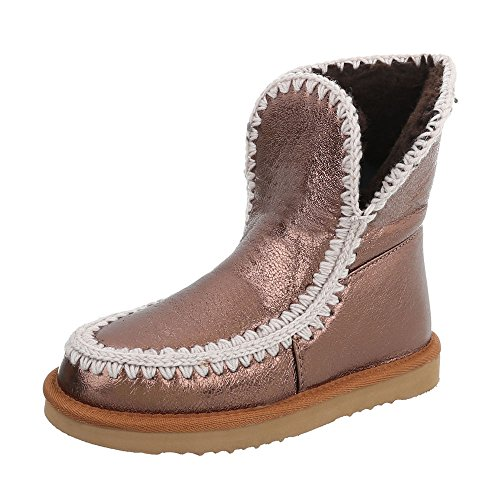 Ital On Boots at Women's Flat Slip Boots Bronze Design RwqxOR1rPv