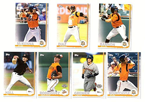 2019 Topps Pro Debut - Baltimore Orioles - 7 Card Team Set