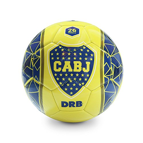 fan products of BOCA JUNIORS Soccer Ball Official Licensed Product - Size 5 - Yellow