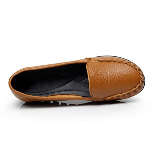 Mamas De Mujer Plataforma Mocasines Mocasines CáLido Felpa Suave SóLido Cuero De Vaca SeñOras Casual CuñAs Bajas Zapatos: Amazon.es: Zapatos y complementos