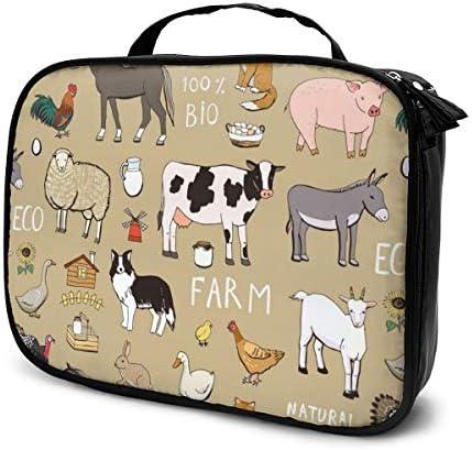 Farm Animals Pattern ハイエンドのファッションシンプルで絶妙なファッショナブルなファッショナブルな化粧バッグ大容量人間化設計ポータブル