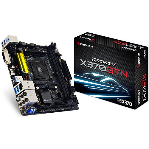 BIOSTAR AM4 AMD X370 SATA 6Gb/s USB 3.1 HDMI Mini ITX AMD Motherboard Model X370GTN ()