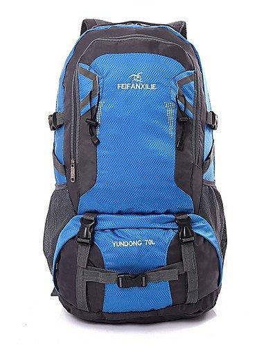 ZQ 60L L Tourenrucksäcke/Rucksack Camping & Wandern / Klettern Draußen Multifunktions Grün / Rot / Schwarz / Blau / Orange Nylon No , blue