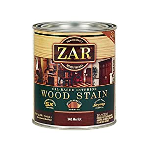 Zar 14012 Wood Stain Qt Merlot Household Wood Stains