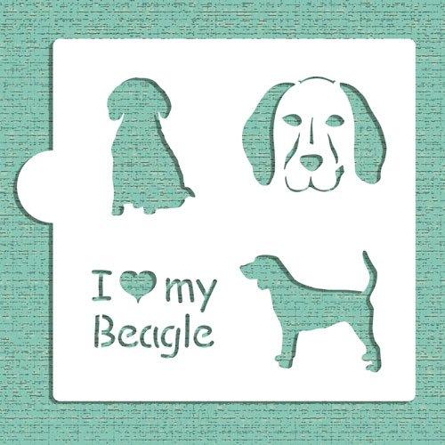 I Love My Beagle Cookie and Craft Stencil CM017 by Designer Stencils