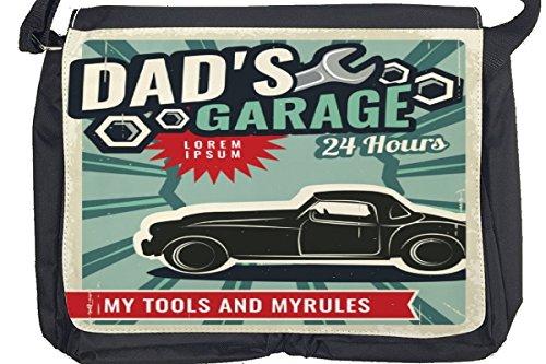 Borsa Tracolla Nostalgico Retrò Auto Garage papà Stampato