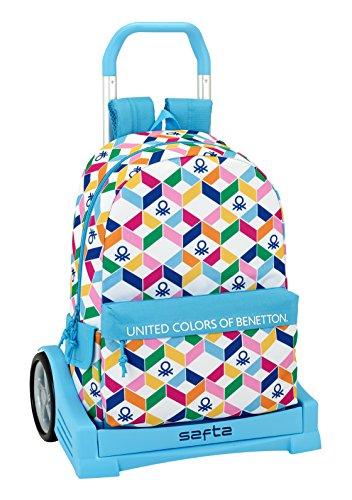 Ergonomic SAFTA Evolution with Benetton Benetton Trolley Geometric Geometric Backpack RnxU6tqF