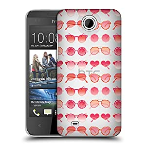 Official Cat Coquillette Pink Sunglasses Pattern 2 Summer Hard Back Case for HTC Desire 300 / Zara mini