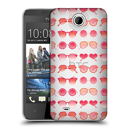 Official Cat Coquillette Pink Sunglasses Pattern 2 Summer Hard Back Case for HTC Desire 300 / Zara mini