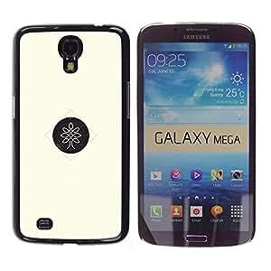 YOYOYO Smartphone Protección Defender Duro Negro Funda Imagen Diseño Carcasa Tapa Case Skin Cover Para Samsung Galaxy Mega 6.3 I9200 SGH-i527 - un árbol secreto es un secreto organzation