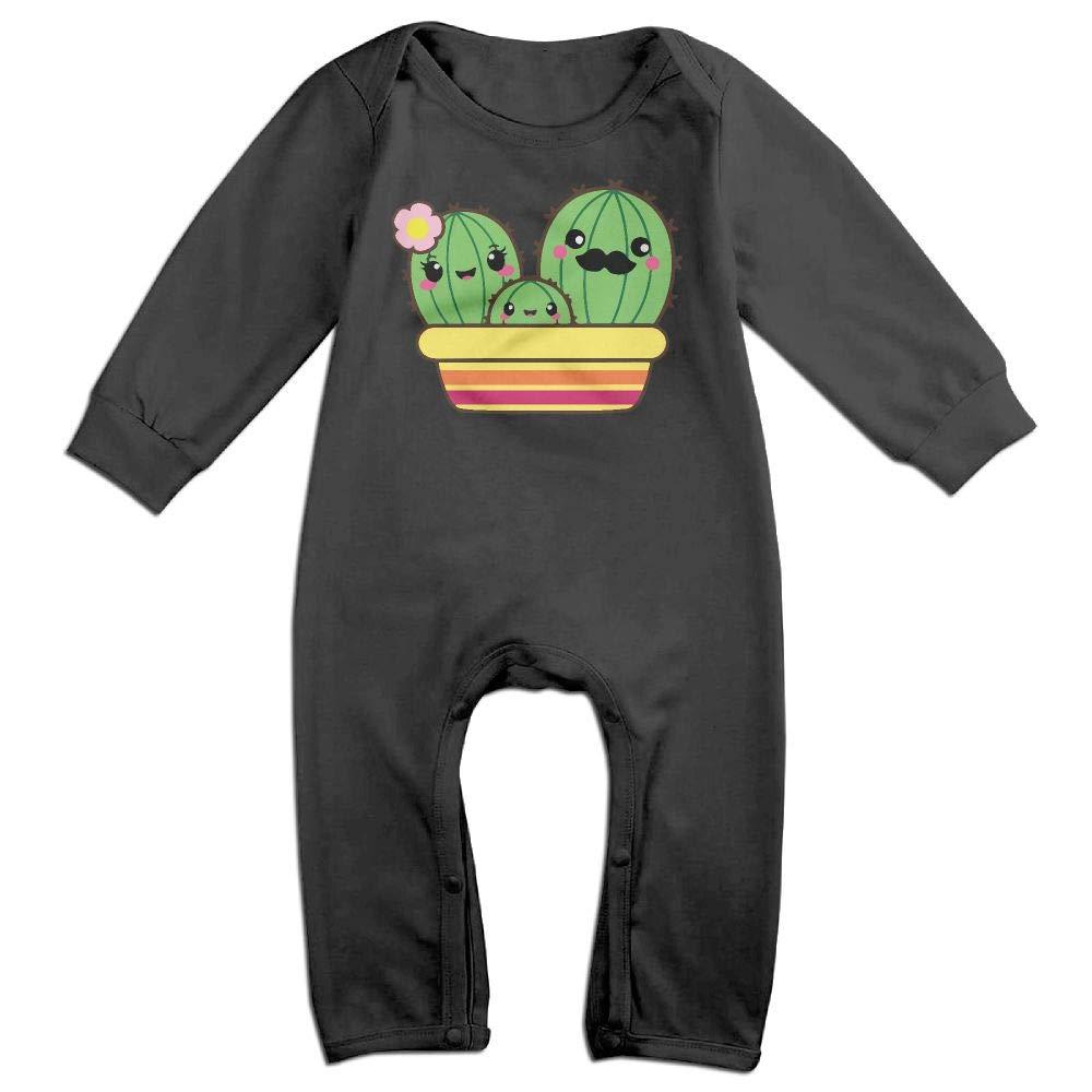UGFGF-S3 Cactus Family Long Sleeve Infant Baby Bodysuit for 6-24 Months Bodysuit