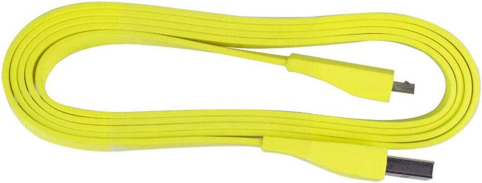 Zahara 5PCS Micro USB Cable Charger PC//DC Charger Flexible Cable Replacement for Logitech UE Boom MEGA Bluetooth Speaker Color:Yellow