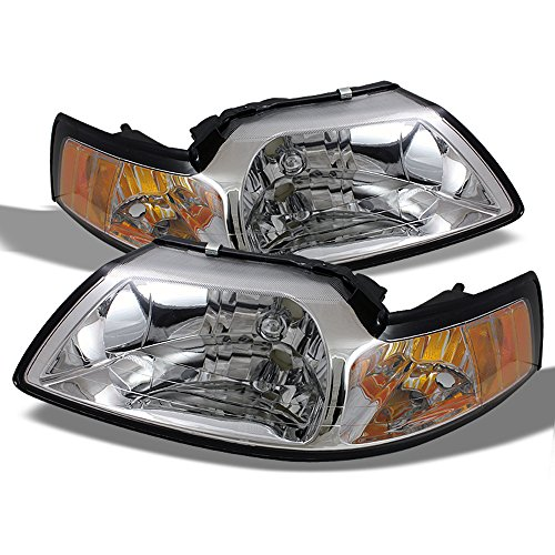 ACANII - For 1999 2000 2001 2002 2003 2004 Ford Mustang Headlights Headlamps Driver + Passenger Side ()