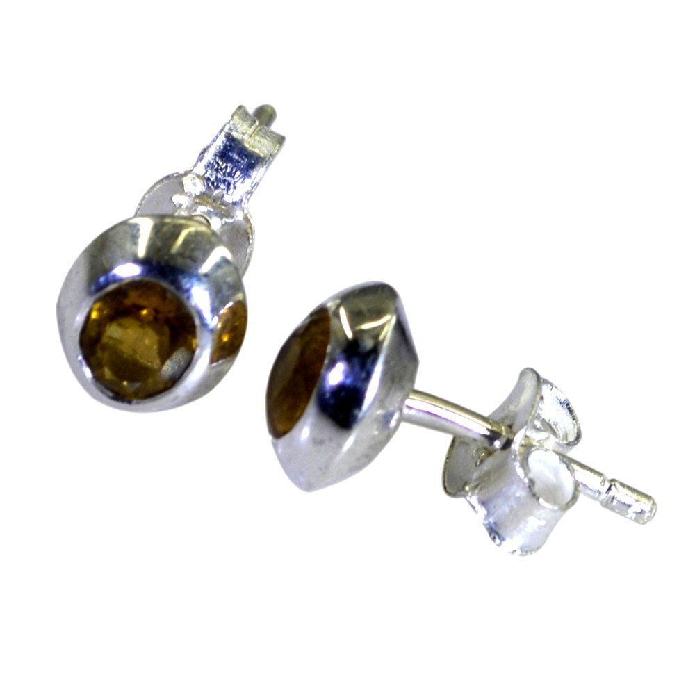 Natural Citrine Butterfly Earring Back For Women Birthstone Beautiful Back 925 Sterling Silver Jewellery