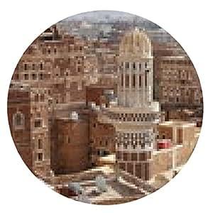 alfombrilla de ratón edificios antiguos Sanaa - casa tradicional de Yemen - ronda - 20cm