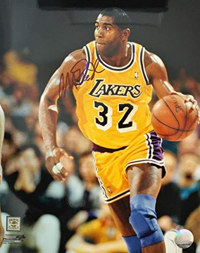4c5ea2b32f47 Image Unavailable. Image not available for. Color  Autographed Signed Magic  Johnson 11x14 Los Angeles Lakers ...