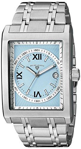 Swiss Legend Men's 40012-102-RN Limousine Light Blue Textured Dial Stainless Steel Watch