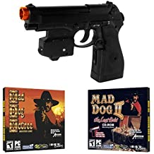 EMS Top Gun 3 Mad Dog McCree PC Game Pack - Wireless Light Gun for PC, MAME, PS2, PS3, and XBOX on ANY Display Including CRT, LCD, Plasma, HD TVs and Projectors!