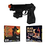 (US) EMS Top Gun 3 Mad Dog McCree PC Game Pack - Wireless Light Gun for PC, MAME, PS2, PS3, and XBOX on ANY Display Including CRT, LCD, Plasma, HD TVs and Projectors!