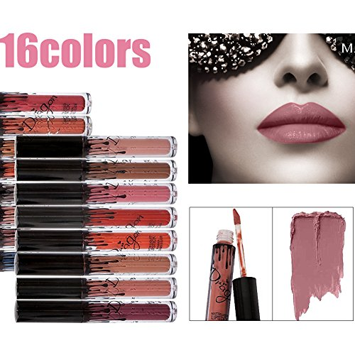 16 Farben wasserdicht langlebig Matte Liquid Lipstick Schönheit Lippe Gloss, Sexy Wasserdichte Long Lasting Moisturizing Lippenstift Lip Gloss/ Fashionable Colors Long Lasting Lipsticks Set