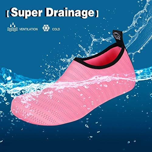 Yoga tw Spiaggia Ballo Per A Sport Uomo Piedi Immersione Da Acquatici Dell'acqua Acquatico Scarpe Traspirante Nudi X Mare rosa Donna qUtgX