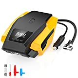 Portable Air Compressor Pump Auto Shut-off 12V 150PSI Car Digital Tire Inflator Pump with LED Light for Cars, Motorbikes, Bicycles, Basketballs, Air Cushions, Hovercrafts & Inflatables (BLACK)