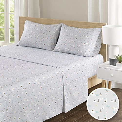100% Hypoallergenic Cotton Sheets Set - Soft Llama Full Bed Sheet With Deep Pocket - Bedding Sets 4 Pieces [ 1 Fitted Sheet,1 Flat Sheet, and 2 Pillow Cases ] Full Size Sheets
