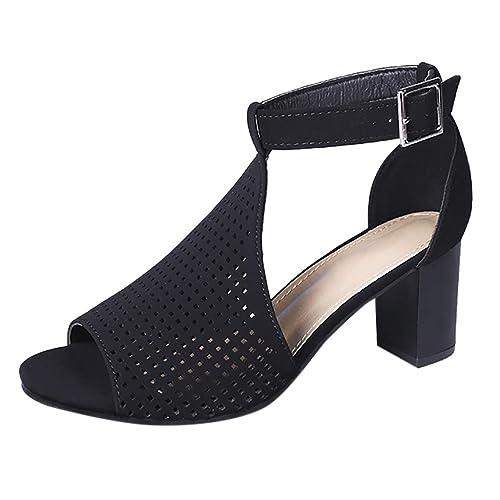 306b18b85f27 Women s Fashion Shoes Toe Cut Out Gladiator Ankle Strap Platform Block High  Heel Stiletto Heeled Sandals