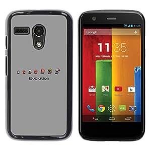 Caucho caso de Shell duro de la cubierta de accesorios de protección BY RAYDREAMMM - Motorola Moto G 1 1ST Gen - Mario Evolución