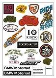 BMW Genuine Motorcycle Riding Vintage Sticker Set Universal Various