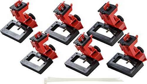 Brady TAGLOCK Circuit Breaker Lockout Devices - 480/600 Volt Clamp-On Oversized Breaker Lockout Device, No Lock Needed - Red - 148691 (Pack of 6) by Brady (Image #4)