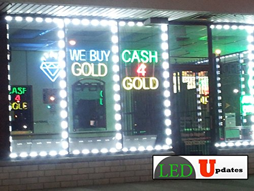 40ft Super bright storefront LED light pure white 5630 injection module with UL 12v AC Power package by LED UPDATES