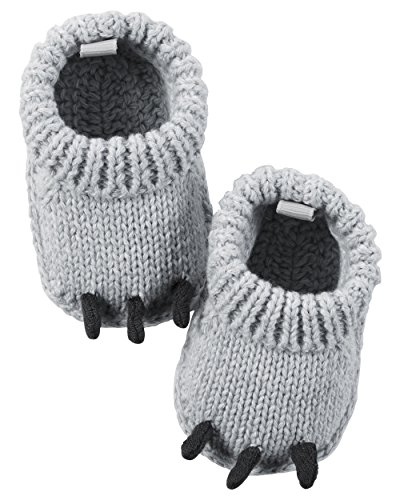 Carter's Baby Boys' Bear Claw Knit Booties Newborn