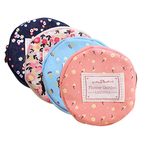 (Retro Money Bag Small Cute Coin Purse(Pack of 4) (Pattern 3))