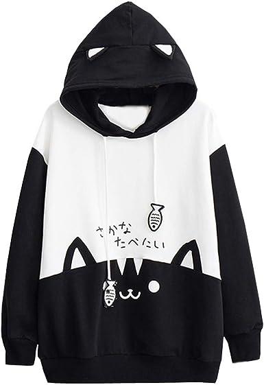 : Hoodie for Women,Wokasun.JJ Japanese Style Cute