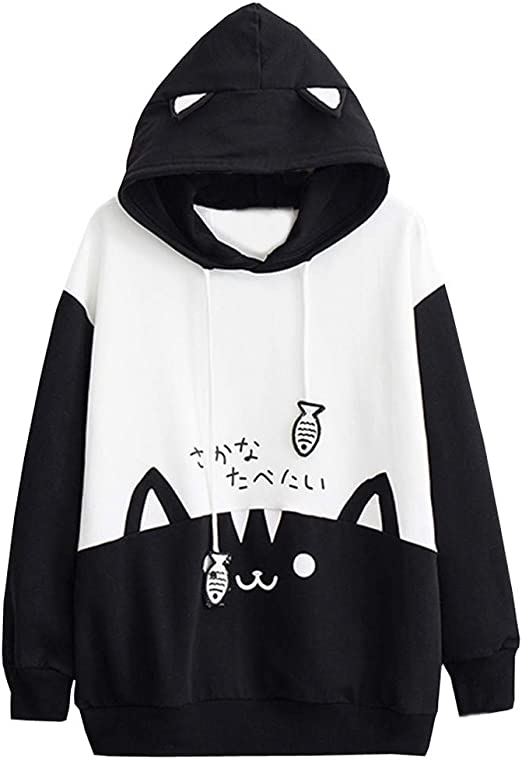 Cute Cats printed Pullover Pocket Hoodies Asian M-6XL 243