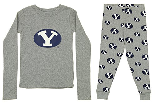 Outerstuff NCAA Little and Big Boy's Long Sleeve Tee and Pant Sleep Set, BYU Cougars 2T