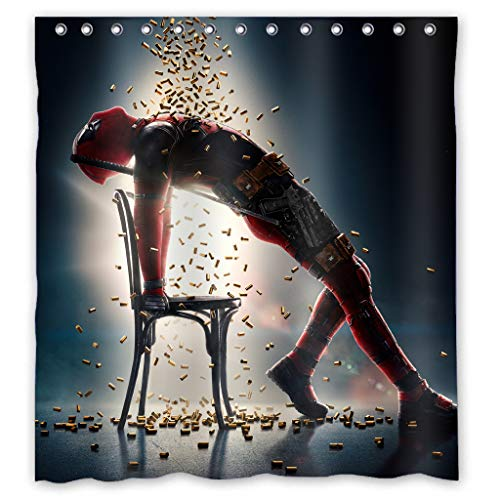 SCJIAhome Deadpool Shower Curtain,Decorative Bathroom Bath Curtains 60