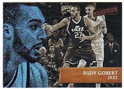 4bd46bf79 Amazon.com  Basketball NBA 2016-17 Panini Aficionado  84 Rudy Gobert ...