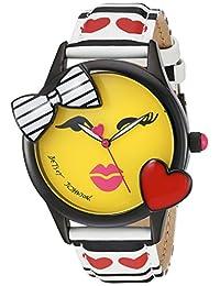 Betsey Johnson Women's BJ00610-01 Bow and Heart Bezel Face Motif Dial Watch