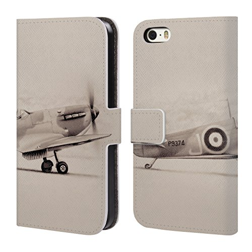 Officiel Graham Bradshaw Avion Illustrations Étui Coque De Livre En Cuir Pour Apple iPhone 5 / 5s / SE