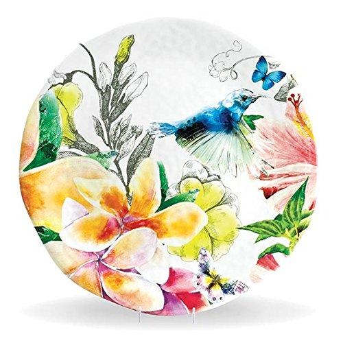 Michel Design Works Melamine Round Serving Platter, Paradise, Large