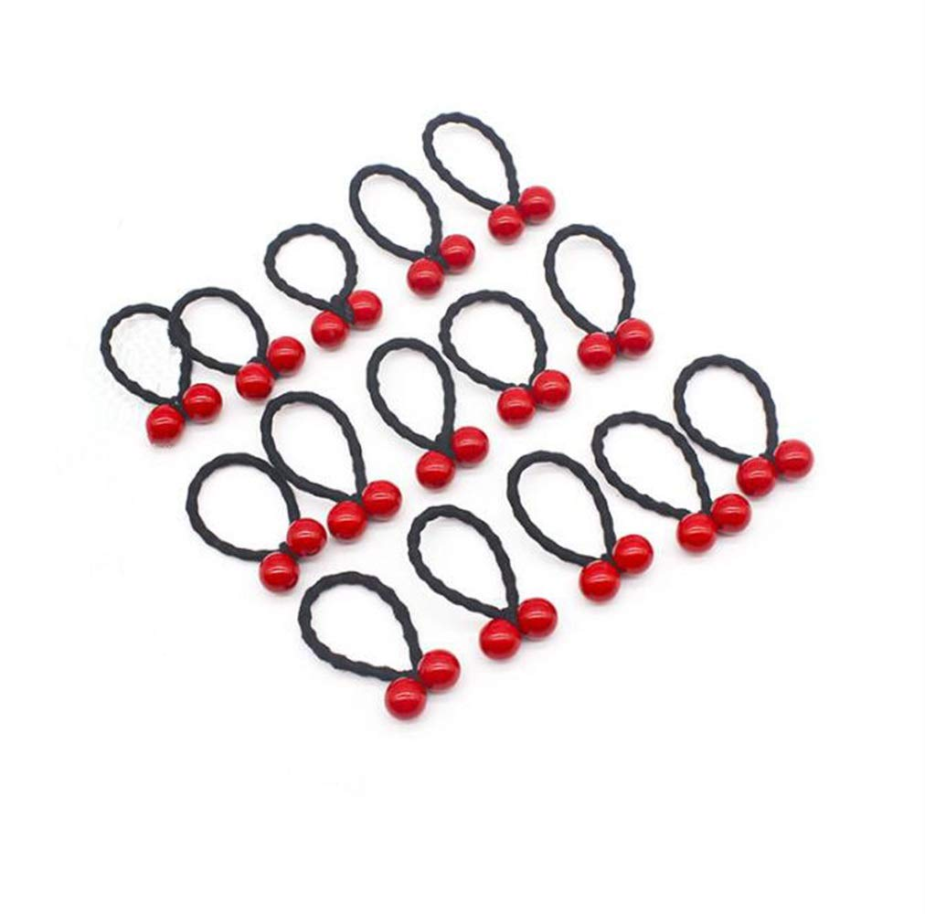 KEANER Pleasing and Durability 60PCS Boutique Rubber Band Girl Cherry Hair Rope Ponytail Elastic Holder