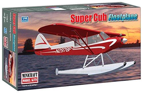 Cub Floats - Minicraft Piper Super Cub Floatplane 1/48 Scale