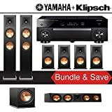 Klipsch RP-260F 7.1-Ch Reference Premiere Home Theater Speaker System Yamaha AVENTAGE RX-A1080 7.2-Channel 4K Network A/V Receiver