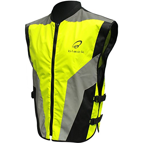 Black Hi-Vis Motorcycle Vest - Buy Online in UAE.  f648a1839