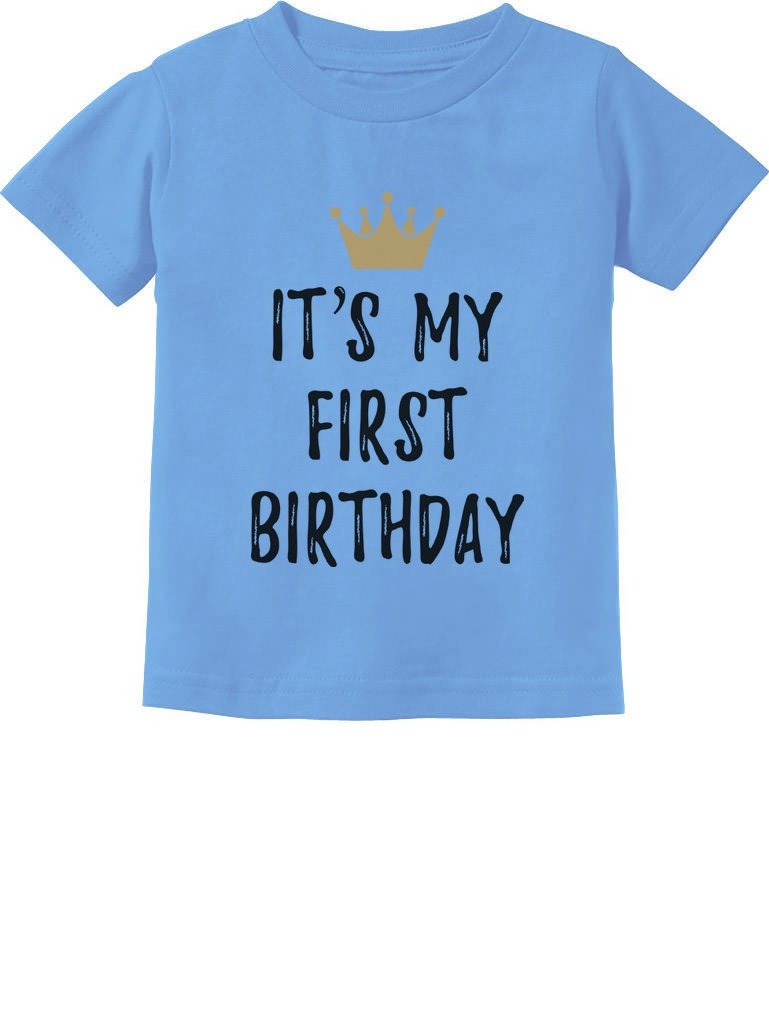 Baby Boy Girl 1st Birthday Gift One Year Old Birthday Crown Infant Kids T-Shirt GZrrt00g75