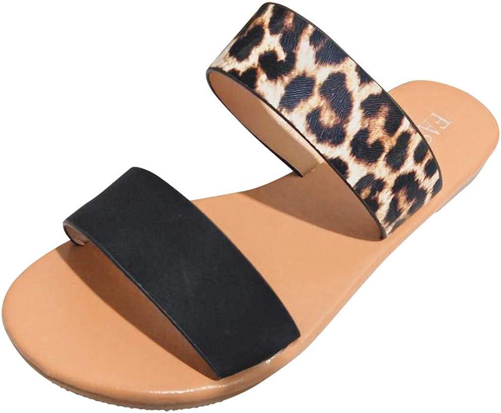 Open Toe Slip On Low Heel Summer Shoes